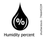 humidity percent icon. simple... | Shutterstock .eps vector #746645239