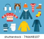 winter clothes illustration | Shutterstock .eps vector #746648107