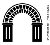 window arch icon. simple... | Shutterstock .eps vector #746648281