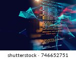programming code abstract... | Shutterstock . vector #746652751