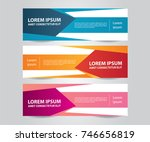 set of modern colorful banner... | Shutterstock .eps vector #746656819