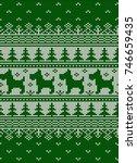 vector nordic christmas sweater ... | Shutterstock .eps vector #746659435