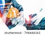 industrial development project. ... | Shutterstock . vector #746666161