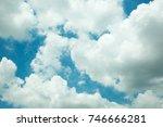 blue sky with cloud. | Shutterstock . vector #746666281