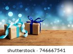 christmas gift or new year with ... | Shutterstock . vector #746667541