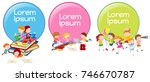 lable designs with children... | Shutterstock .eps vector #746670787