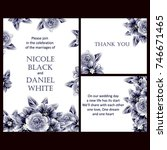 vintage delicate invitation... | Shutterstock .eps vector #746671465