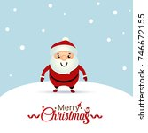 christmas greeting card with... | Shutterstock .eps vector #746672155