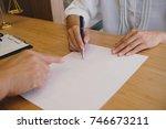 legal counsel presents to the...   Shutterstock . vector #746673211