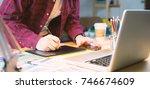 graphic design adviser... | Shutterstock . vector #746674609