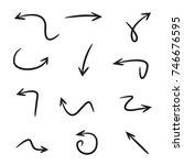 hand drawn arrows | Shutterstock vector #746676595