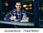 half length portrait of...   Shutterstock . vector #746678065