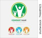 life logo design template | Shutterstock .eps vector #746689621