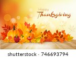 happy thanksgiving background... | Shutterstock .eps vector #746693794