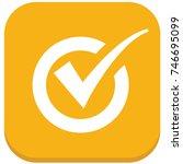 checking mark icon design vector | Shutterstock .eps vector #746695099