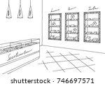jewelry shop graphic black...   Shutterstock .eps vector #746697571