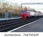 Red Train Locomotive Coming To...