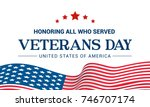 veterans day vector... | Shutterstock .eps vector #746707174