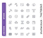 line icons set. bitcoin pack....