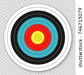 target for archery target on... | Shutterstock .eps vector #746715079