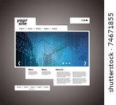website template | Shutterstock .eps vector #74671855