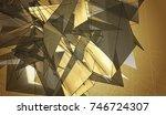 beautiful gold illustration... | Shutterstock . vector #746724307