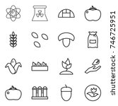 thin line icon set   atom ... | Shutterstock .eps vector #746725951