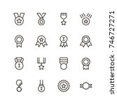 award icon set. collection of... | Shutterstock .eps vector #746727271