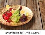 closeup of fresh vegetable... | Shutterstock . vector #74673298