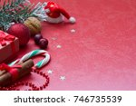 christmas red abstract... | Shutterstock . vector #746735539