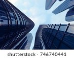 3d rendering low angle view of... | Shutterstock . vector #746740441