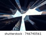 3d rendering low angle view of... | Shutterstock . vector #746740561
