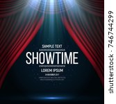 showtime banner with curtain... | Shutterstock .eps vector #746744299