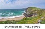 beautiful beach between slea... | Shutterstock . vector #746754991