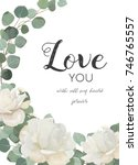 vector floral design card.... | Shutterstock .eps vector #746765557