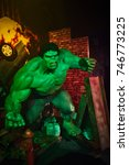Small photo of Amsterdam, Netherlands - September 05, 2017: Hulk, Bruce Benner, Marvel section, Madame Tussauds wax museum in Amsterdam