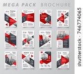 mega pack brochure design... | Shutterstock .eps vector #746774065