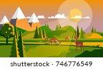 colorful flat design... | Shutterstock .eps vector #746776549