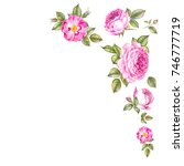 spring collection of rose... | Shutterstock . vector #746777719