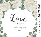 vector floral design card.... | Shutterstock .eps vector #746779741