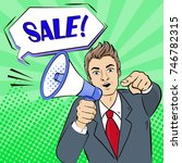 pop of business man take... | Shutterstock . vector #746782315