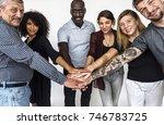 group of diversity people hands ... | Shutterstock . vector #746783725