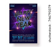happy new year party poster ... | Shutterstock .eps vector #746793379