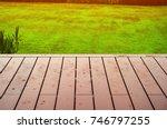 the rain fell on the wooden... | Shutterstock . vector #746797255