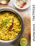 Small photo of moong dal khichdi, Indian national Dish or food, selective focus