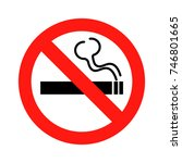 no smoking sign icon on white... | Shutterstock . vector #746801665