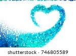 light green vector blurry... | Shutterstock .eps vector #746805589