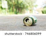 beer can fall on the street  it ... | Shutterstock . vector #746806099