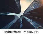 3d rendering low angle view of... | Shutterstock . vector #746807644