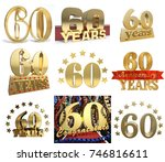 set of number sixty years  60... | Shutterstock . vector #746816611